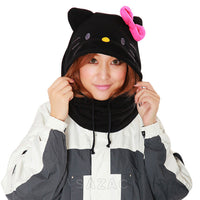 SAZAC Hello Kitty Black Kigurumi Neck Warmer