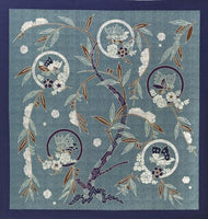 kyoohoo Cotton Furoshiki Butterfly Navy