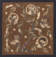 kyoohoo Cotton Furoshiki Butterfly Brown