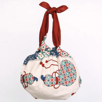 kyoohoo Cotton Furoshiki Imari Big Dish Red