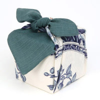 kyoohoo Cotton Furoshiki Small Size Imari Big Dish Green
