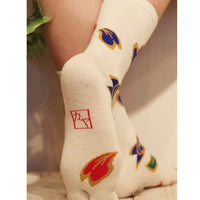 Tabi Socks Deco Flower kyoohoo