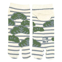 Tabi Socks Short type Pine Tree White/XL