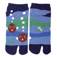 Tabi Socks Short type Gold fishes/M