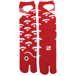 Tabi Socks Red Fish/XL