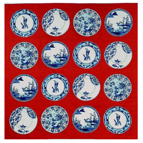 kyoohoo Cotton Furoshiki Small Size Imari Small Dishes