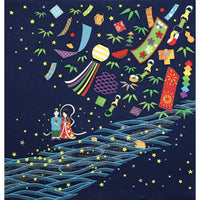kyoohoo Chirimen Furoshiki The Star Festival date of 7/7