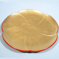 Kyoohoo Lacquer Ware Gold Leaf Plate