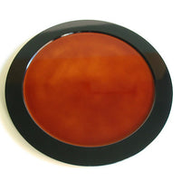 Kyoohoo Lacquer Ware Plate Kasumi Brown
