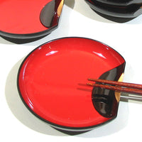 Kyoohoo Lacquer Ware Chopstick Rest Harf Moon