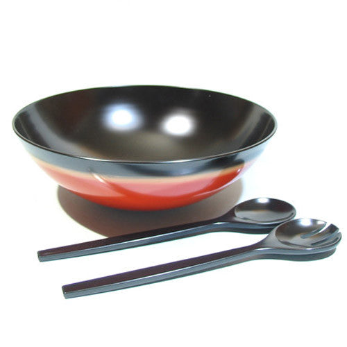 Kyoohoo Lacquer Ware Salad Bowl (L) with Server