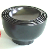 Kyoohoo Lacquer Ware Nested Five Bowls Black