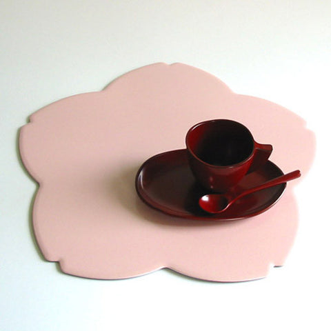 Kyoohoo Lacquer Ware Cherry Blossom Reversible Mat Pink/Red