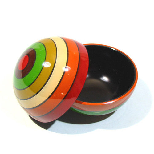 Kyoohoo Lacquer Ware Rainbow Round Case