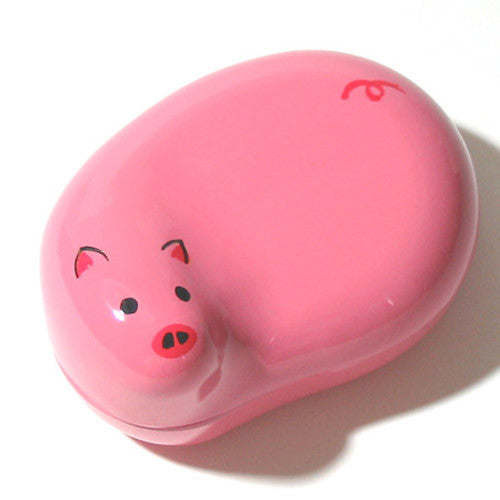 Kyoohoo Lacquer Ware Lucky Color Case Pink Pig