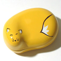 Kyoohoo Lacquer Ware Lucky Color Case Yellow Fox