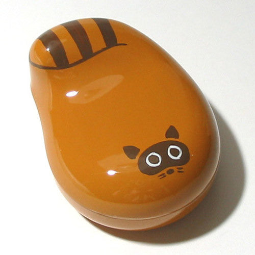 Kyoohoo Lacquer Ware Lucky Color Case Brown Raccoon
