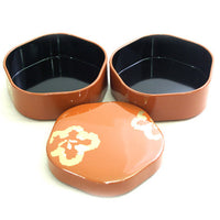 Kyoohoo Lacquer Ware Double-Deck Plum Case Orange