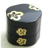 Kyoohoo Lacquer Ware Double-Deck Plum Case Black