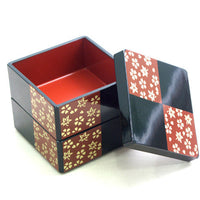 Kyoohoo Lacquer Ware Cubic Check Design Case Black