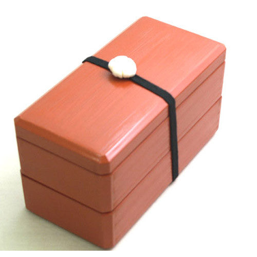 Kyoohoo Lacquer Ware Komachi Lunch Box Red
