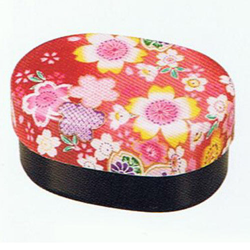 Kyoohoo Lacquer Ware Koban Lunch Box Sakura Red
