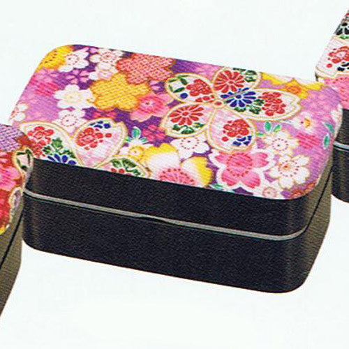 Kyoohoo Lacquer Ware Kaku Lunch Box Sakura Purple