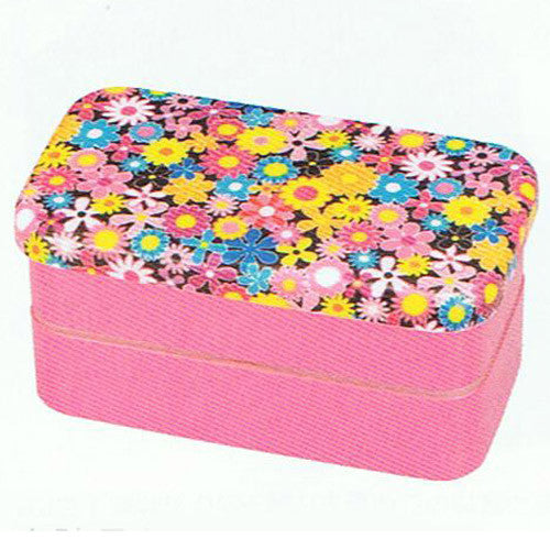 Kyoohoo Lacquer Ware Kaku Lunch Box Flower