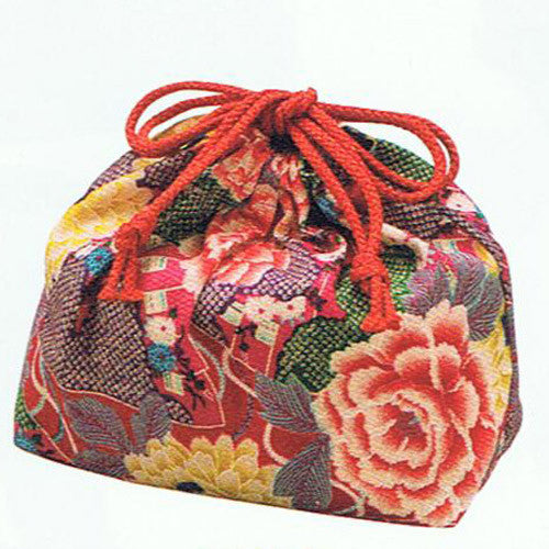 Kyoohoo Lacquer Ware Pouch for Lunch Box Yuzen Rose