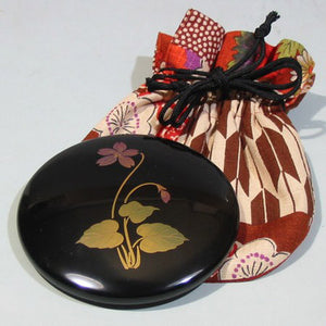 Kyoohoo Lacquer Ware Birth Month Mini Mirror