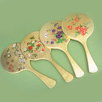 Kyoohoo Lacquer Ware Gold Kyo Mirror Flower Birds