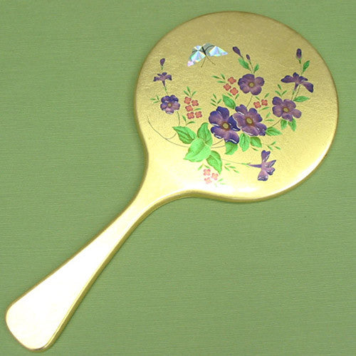 Kyoohoo Lacquer Ware Gold Kyo Mirror Violet