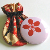 Kyoohoo Lacquer Ware Sakura Mini Mirror Purple