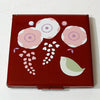 Kyoohoo Lacquer Ware Pocket Mirror Ume Red
