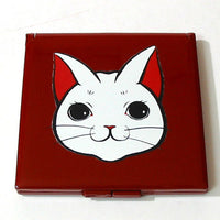 Kyoohoo Lacquer Ware Pocket Mirror Cat