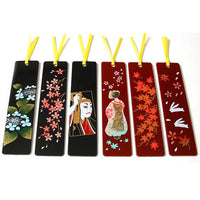 Kyoohoo Lacquer Ware Makie Bookmarker Sakura