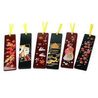 Kyoohoo Lacquer Ware Makie Bookmarker Ajisai