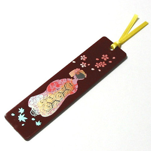 Kyoohoo Lacquer Ware Makie Bookmarker Maiko