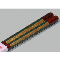 Kyoohoo Lacquer Ware Chop Sticks stripe With Gold Green