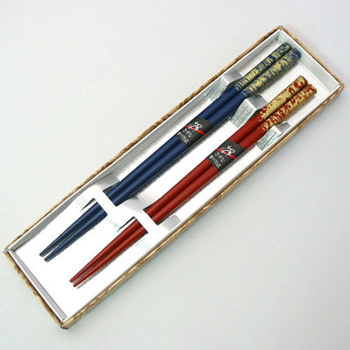 Kyoohoo Lacquer Ware Paired Chopsticks Set Gold