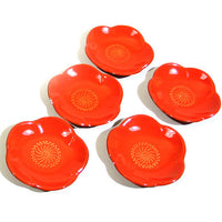 Kyoohoo Lacquer Ware Chop Stick Rest Plum Orange