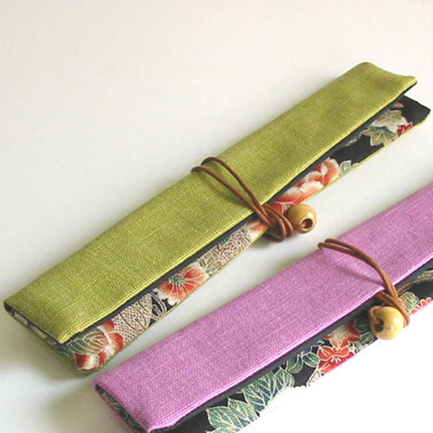 Kyoohoo Lacquer Ware Chopstick Pouch Green