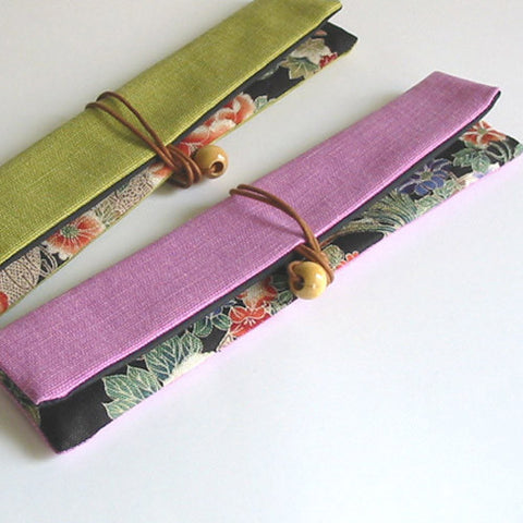Kyoohoo Lacquer Ware Chopstick Pouch Purple