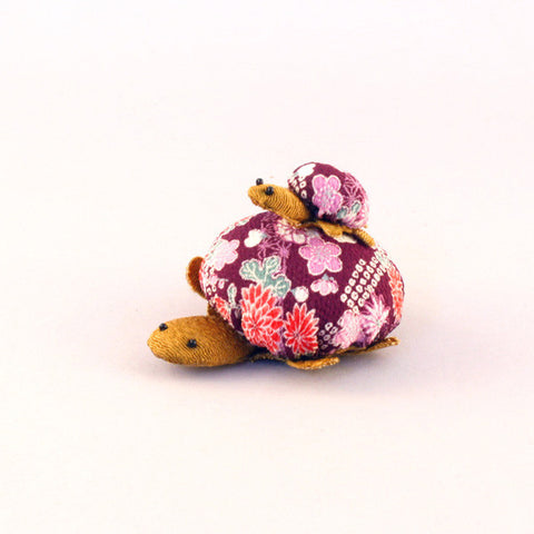 Chirimen Family Turtle Purple