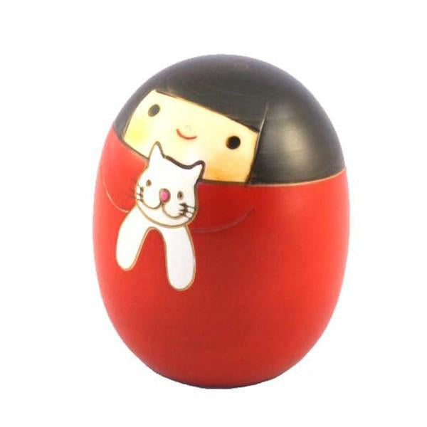 Kyoohoo Japanese Kokeshi Doll cat sally (K12-4303)