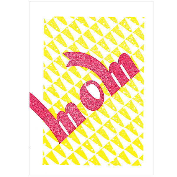 japanwave Tegami Letterpress Greeting Card mom