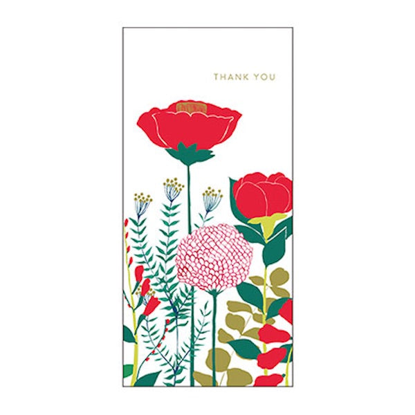 Greeting Life Flowers Thank you Card MA-1