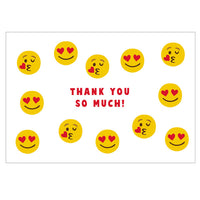Greeting Life Thank you Card Face MM-247