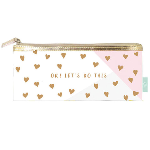 Greeting Life Clear Pen Case Chic Mini Heart MMZ-143
