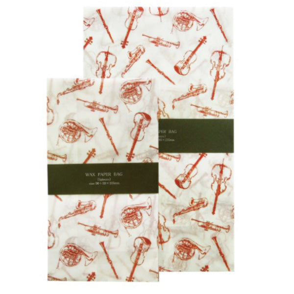 Jolie Poche Wax Paper Bag Square Bottom TYPE S size SWG-03WH